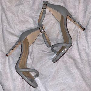 Shoes - Crush grey heels
